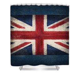 England Flag Shower Curtain by Setsiri Silapasuwanchai