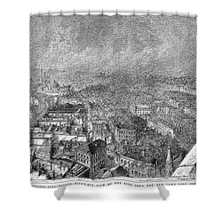 England: Manchester, 1876 Shower Curtain by Granger
