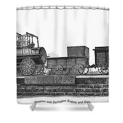 English Locomotive, 1825 Shower Curtain by Granger
