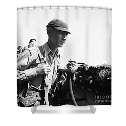 Ernie Pyle (1900-1945). American Journalist. Photograph, C1942 Shower Curtain by Granger