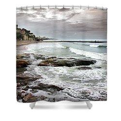 Estoril Coastline Shower Curtain by Carlos Caetano