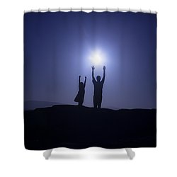 Father And Daughter Shower Curtain by Joana Kruse
