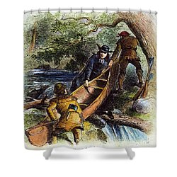 Father Jacques Marquette Shower Curtain