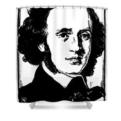 Felix Mendelssohn Shower Curtain by Granger