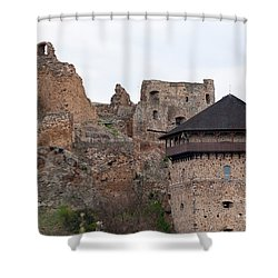 Shower Curtain featuring the photograph Filakovo Hrad - Castle by Les Palenik