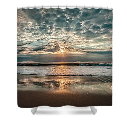 First Fall Sunrise Ocean City Shower Curtain
