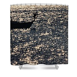Fisherman Shower Curtain by Stelios Kleanthous