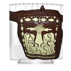 Five Wise Virgins Shower Curtain by Gloria Ssali