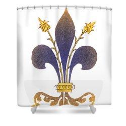 Fleur-de-lis Shower Curtain by Science Source
