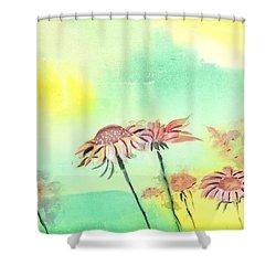 Flowers 2 Shower Curtain by Anil Nene