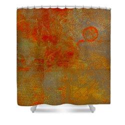 Fluorescent Rust Shower Curtain by Christopher Gaston
