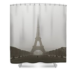 Foggy Morning In Paris Shower Curtain