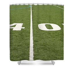Shower Curtain featuring the photograph Football Field Forty by Henrik Lehnerer