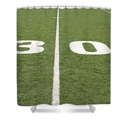Shower Curtain featuring the photograph Football Field Thirty by Henrik Lehnerer
