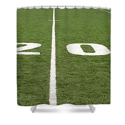 Shower Curtain featuring the photograph Football Field Twenty by Henrik Lehnerer
