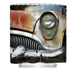 Forgotten Buick Shower Curtain by Steve McKinzie