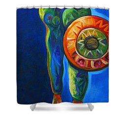 Four Feathers Shower Curtain by Lance Headlee