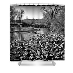 From Under The Bridge Shower Curtain by David Patterson