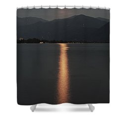 Full Moon Shower Curtain by Joana Kruse