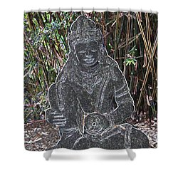 Shower Curtain featuring the photograph Garden Goddess by Donna  Smith