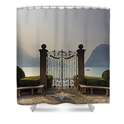 Gateway To The Lake Of Lugano Shower Curtain by Joana Kruse
