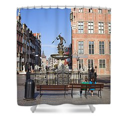 Gdansk Old Town Shower Curtain by Artur Bogacki