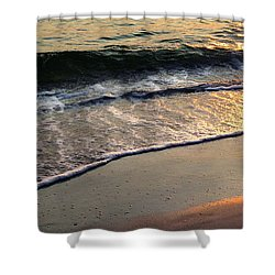 Gentle Tide Shower Curtain by Angela Rath