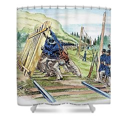 Georgia: Shermans March Shower Curtain by Granger