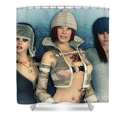 Girlfriends Shower Curtain by Jutta Maria Pusl