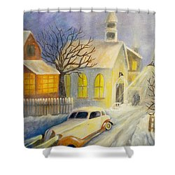 Going Home Shower Curtain by Renate Nadi Wesley