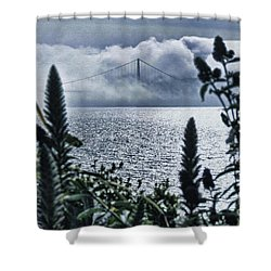 Shower Curtain featuring the photograph Golden Gate Bridge - 1 by Mark Madere