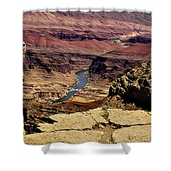 Grand Canyon Colorado River Shower Curtain by Bob and Nadine Johnston
