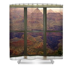 Grand Canyon Springtime Bay Window View Shower Curtain by James BO  Insogna