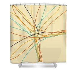 Graphic Line Pattern Shower Curtain by Setsiri Silapasuwanchai