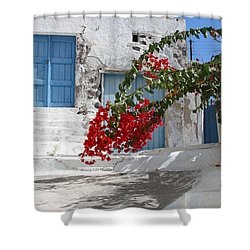 Shower Curtain featuring the photograph Greece by Milena Boeva