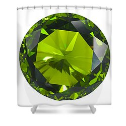 Green Gem Isolated Shower Curtain by Atiketta Sangasaeng