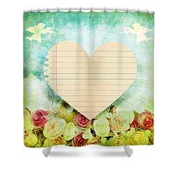 greeting card Valentine day Shower Curtain by Setsiri Silapasuwanchai