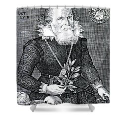 Gregor Horstius, German Physician Shower Curtain by Science Source