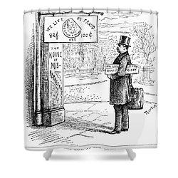 Grover Cleveland Cartoon Shower Curtain by Granger