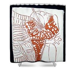 Guardian Angel - Tile Shower Curtain by Gloria Ssali