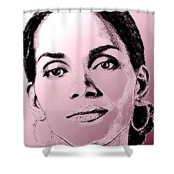 Halle Berry In 2008 Shower Curtain by J McCombie