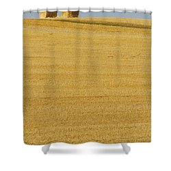 Hay Bales, Holland, Manitoba Shower Curtain by Mike Grandmailson