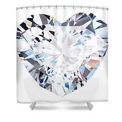 Heart Diamond  Shower Curtain