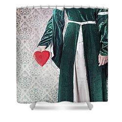 Heart Shower Curtain by Joana Kruse