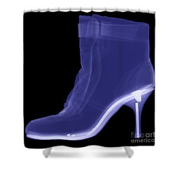 High Heel Boot X-ray Shower Curtain by Ted Kinsman
