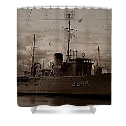 Shower Curtain featuring the photograph Hmas Castlemaine 2 by Blair Stuart