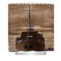 Shower Curtain featuring the photograph Hmas Castlemaine by Blair Stuart