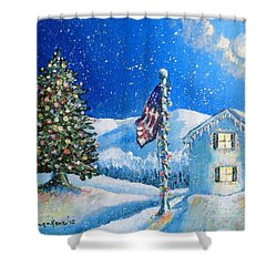 Home For The Holidays Shower Curtain by Shana Rowe Jackson