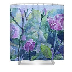 How Did The Rose Shower Curtain by Jan Bennicoff