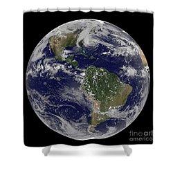 Hurricane Sandy Along The East Coast Shower Curtain by Stocktrek Images